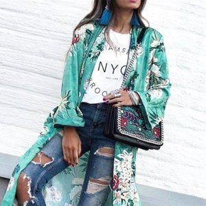Kimono Floral Duster Coverup - JIAO